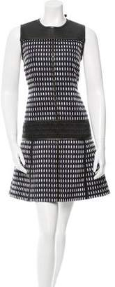 Proenza Schouler Leather-Paneled Shift Dress