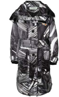 Off-White printed trench