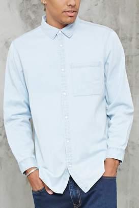 Forever 21 Chambray Pocket Shirt