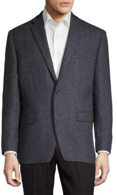 Calvin Klein Wool Houndstooth Sportcoat