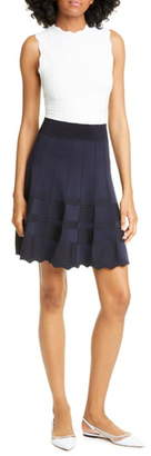 Ted Baker Colorblock Knit Fit & Flare Dress