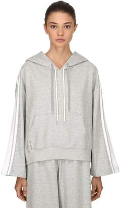 Sjyp Boxy Fit Cropped Stripe Tape Hoodie