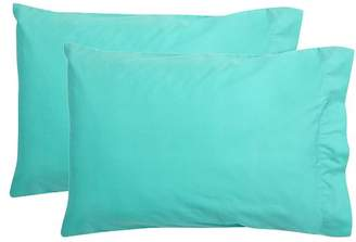Pottery Barn Teen Essential Pillowcases, Standard, Set of 2, Pool
