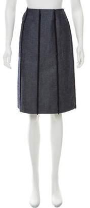 Chanel Fringe-Trimmed Denim Skirt w/ Tags