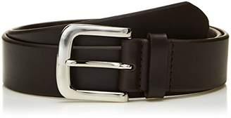 """Filgate Mens Leather Classic Dress Belt Tone in Tone Stitching Belt 30"""""""