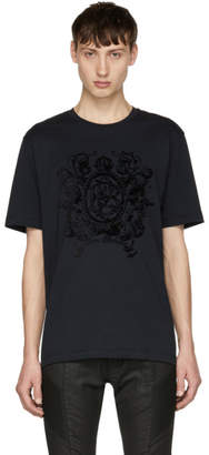 Pierre Balmain Navy Crown Logo T-Shirt
