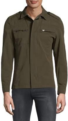 RON TOMSON Men's Collared Long Sleeve Shirt - Green, Size xxxl [xxx-large]