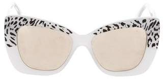Cat Eye Cutler and Gross Mirrored Cat-Eye Sunglasses