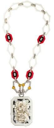 Prada Acetate, Crystal & Sequin Necklace