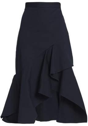 Peter Pilotto Wrap-Effect Ruffled Cotton-Blend Twill Skirt