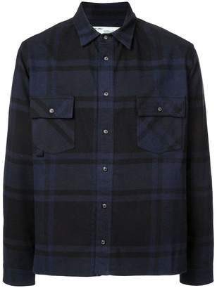 Off-White checked arrow print shirt