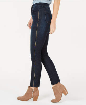 Style&Co. Style & Co Petite Chain-Embellished High-Rise Skinny Jeans