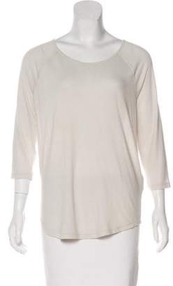 Raquel Allegra Scoop Neck Long Sleeve Top