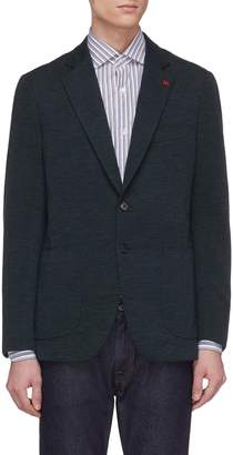 Isaia 'Sailor' wool blend jersey blazer