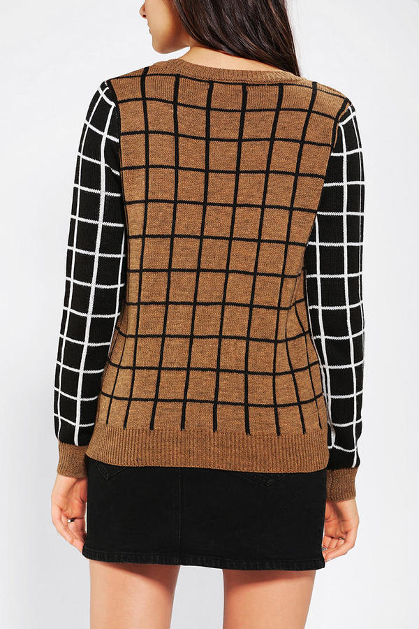 Urban Outfitters Lucca Couture Windowpane Sweater