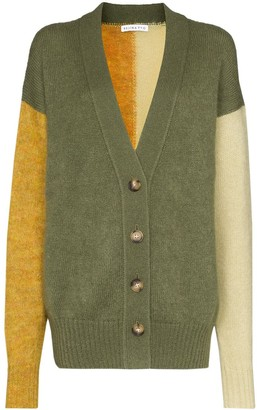 REJINA PYO V-neck colour block cardigan