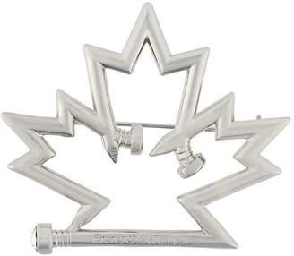 DSQUARED2 maple leaf pin