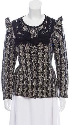 Leifsdottir Wool Patterned Cardigan