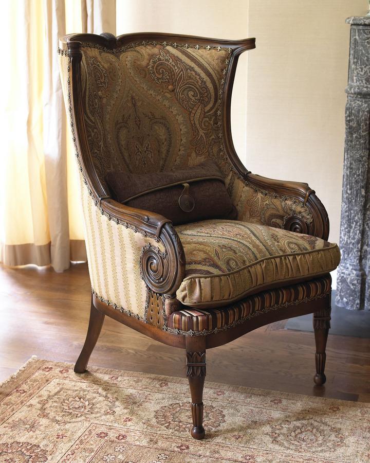 "Zimmermann Jeff Zimmerman Collection by Key City ""Gretchen"" Wingback Chair"