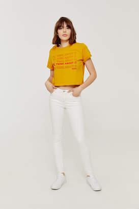 Ardene Mustard Yellow Graphic T-shirt
