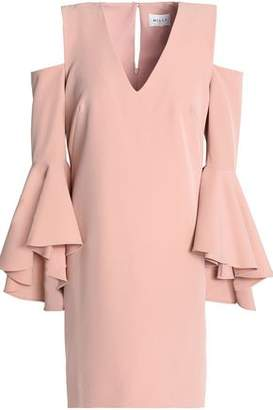 Milly Nicole Cold-Shoulder Ruffled Cady Mini Dress