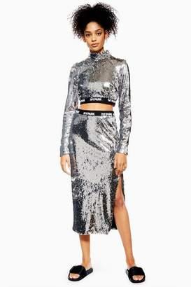 Ivy Park Womens Sequin Midi Skirt