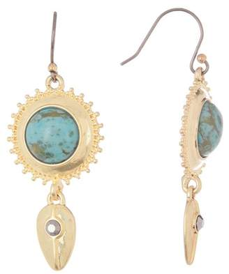 Lucky Brand Faux Turquoise Pave Drop Earrings