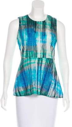 Halston Tie-Dye Sleeveless Top
