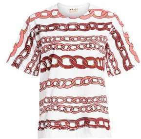Marni Cotton Chain Link Print Tee
