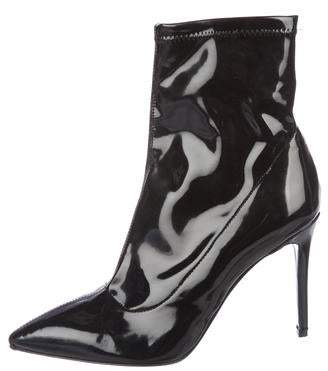 Barneys New York Barney's New York Patent Leather Ankle Boots