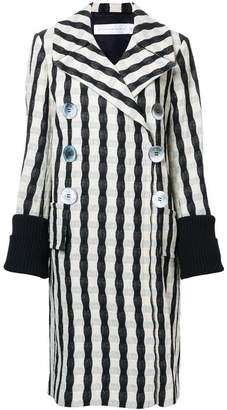 Victoria Beckham striped double breasted coat