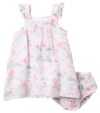 Angel Dear Bunny Damask Dress & Bloomers Set (Toddler Girls)