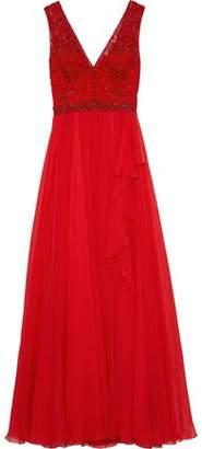 ZUHAIR MURAD Kanshou Embellished Silk-chiffon And Tulle Gown
