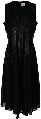 Comme des Garcons (コム デ ギャルソン) - Comme Des Garçons Noir Kei Ninomiya ribboned georgette midi dress