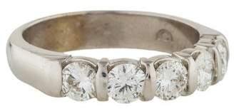 Ring 14K Five Stone Diamond Band