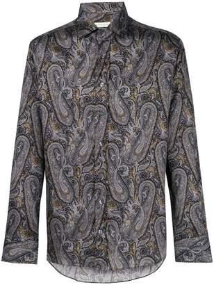 Etro plaid printed collared shirt