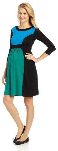 Olian Women's Maternity Colorblock Dress