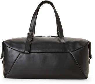 American Designer Black Belmer Leather Clipper Bag