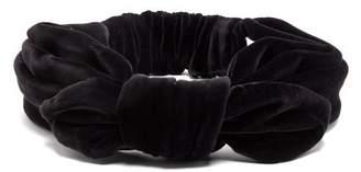 Maison Michel Tali Knotted Velvet Headband - Womens - Black