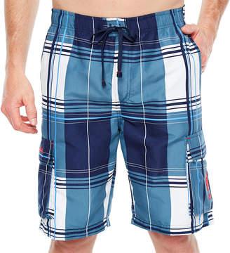 U.S. Polo Assn. Plaid Swim Shorts