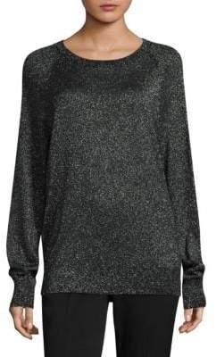 Michael Kors Metallic Raglan-Sleeve Pullover