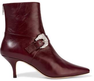 DORATEYMUR - Saloon Buckled Leather Ankle Boots - Burgundy