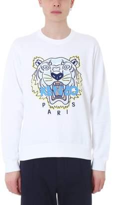 Kenzo Tiger White Cotton Sweatshirt