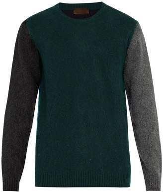 Altea Colour-block wool-blend sweater