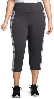 ST. JOHN'S BAY SJB ACTIVE Active Secretly Slender Leggings Capri with Pockets - Plus