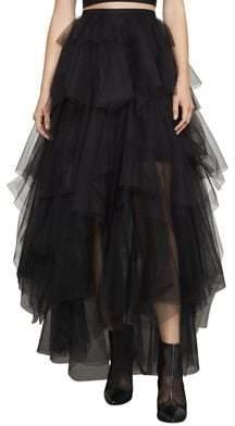 BCBGMAXAZRIA Camber Layered Tulle Maxi Skirt