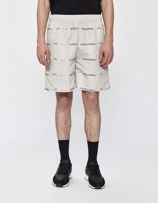 A-Cold-Wall* A Cold Wall* Nylon Pull-On Short in Pale Grey