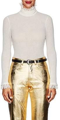 Philosophy di Lorenzo Serafini Women's Fine Rib-Knit Turtleneck Top - White