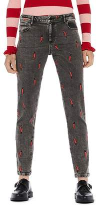 Scotch & Soda Petit Ami Embroidered Slim Boyfriend Jeans in Love is All You Need