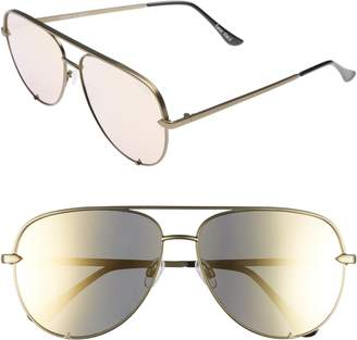 Quay x Desi Perkins High Key 60mm Aviator Sunglasses